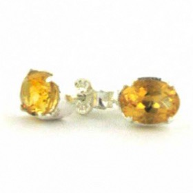Citrine Earrings - Gemstone Earrings - Boothandbooth.co.uk