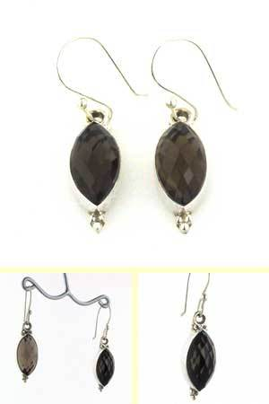 Smokey Quartz Earrings Eleanor