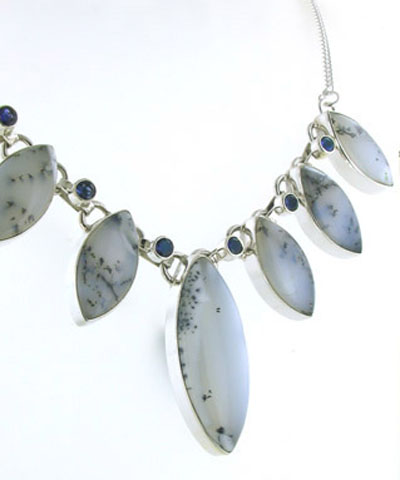 Dendritic Agate Necklace Ophelia