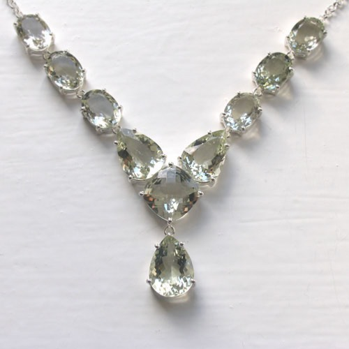 Green Amethyst Necklace Lettie