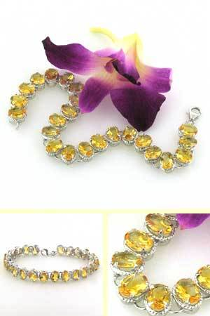 Citrine and Sterling Silver Bracelet Tatiana