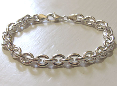 Silver Anchor Chain Bracelets - Booth and Booth
