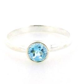 Blue Topaz Rings - Silver Gemstone Rings