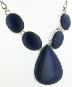 Lapis Lazuli Necklace - Boothandbooth.co.uk