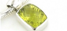 Lemon Quartz Pendants in Sterling Silver