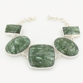 Seraphinite and Sterling Silver Bracelet Thea