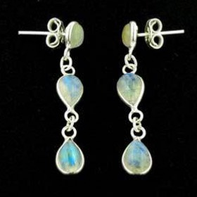 Rainbow Moonstone Earrings Kiri