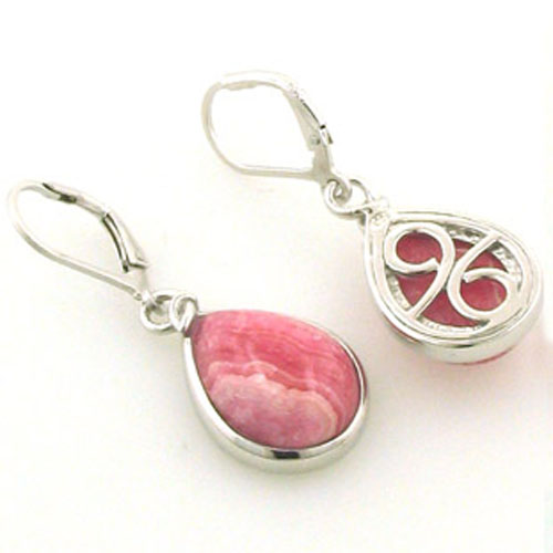 Rhodochrosite Earrings Adelle