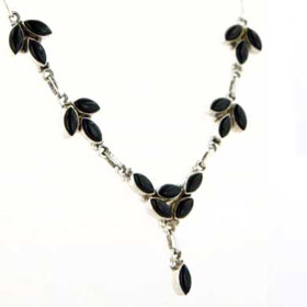 Black Onyx Necklace Polly