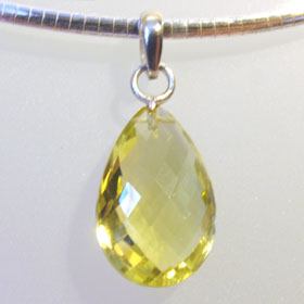 Lemon Quartz Pendant Sylvia