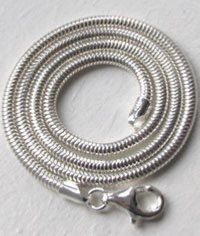 silver snake chain