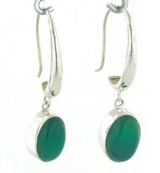 Green Onyx Earrings - Boothandbooth.co.uk