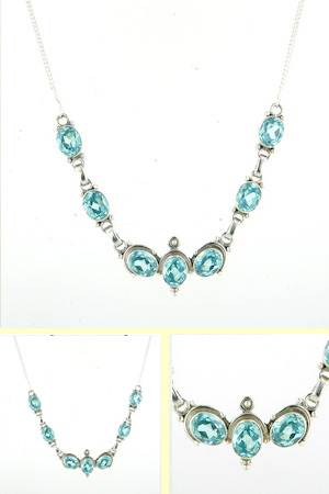 Blue Topaz Necklace Odette
