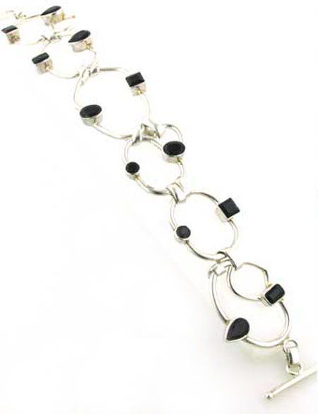 Black Onyx and Sterling Silver Bracelet Mariella