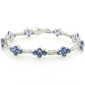 Iolite and Sterling Silver Bracelet Georgia