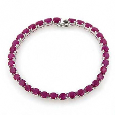Ruby and Sterling Silver Bracelet Wanda