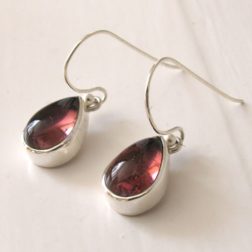 Salmon Pink Tourmaline Earrings Agatha
