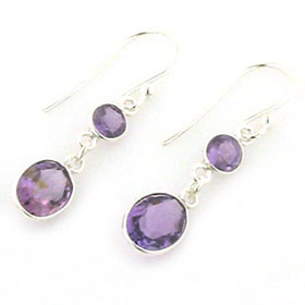 Amethyst Earrings Sigi