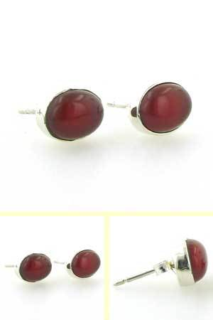 Red Onyx Stud Earrings Nadine
