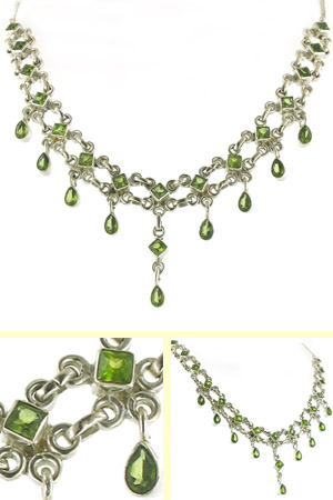 Peridot Necklace Alicia