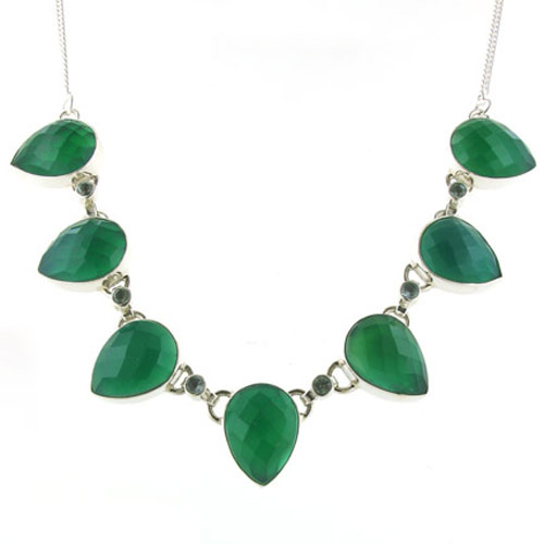 Green Onyx Necklace - Booth and Booth
