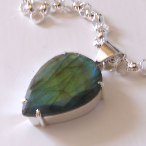 Faceted Labradorite Pendant Harriet