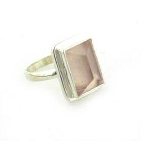 Rose Quartz Ring Picasso