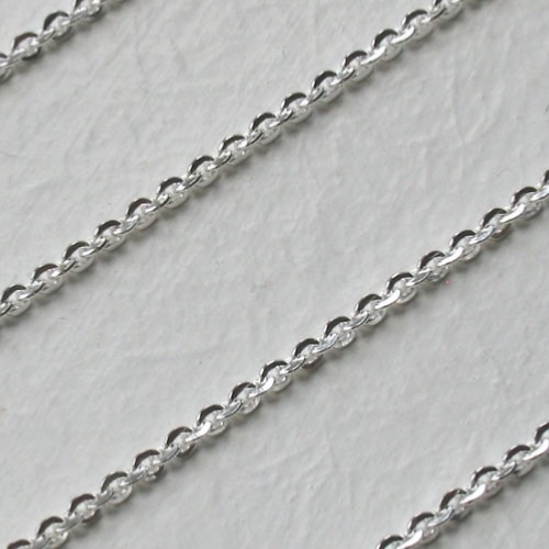 16 Quot Sterling Silver Diamond Cut Trace Chains Booth And Booth