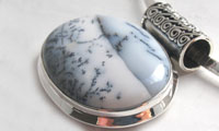 Dendritic Agate Pendants