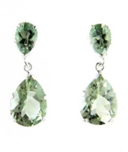 Green Amethyst Earrings - Boothandbooth.co.uk