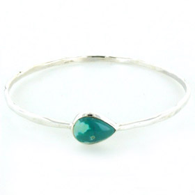 Turquoise and Sterling Silver Bangle Celia
