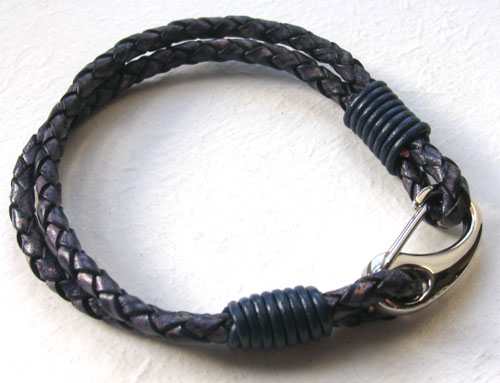 Indigo Leather Bracelet Bach