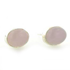 Rose Quartz Stud Earrings Nadine