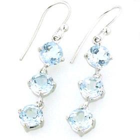 927c07534e68 Aquamarine Earrings Demi Aquamarine droplet earrings claw set in sterling  silver.
