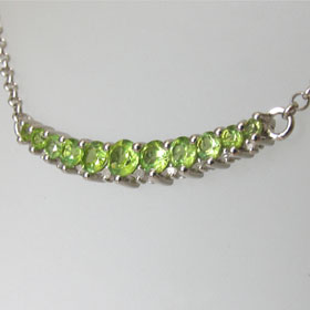 Peridot Necklace Celestine