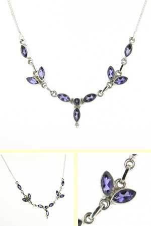 Iolite Necklace Candide