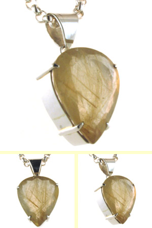 Golden Rutilated Quartz Pendant Hetty