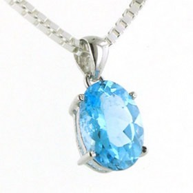 Swiss Blue Topaz Pendant Candy