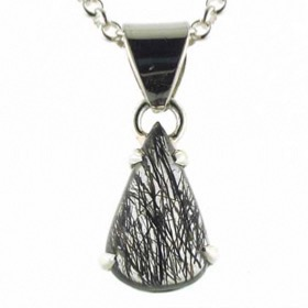 Black Rutilated Quartz Pendant Coco