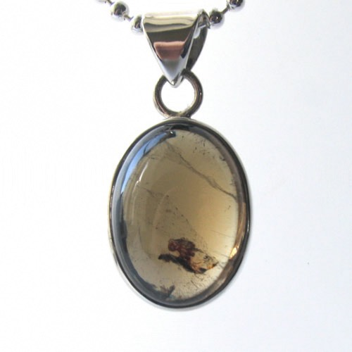 Olive Green Tourmaline Pendant Sarah in Sterling Silver