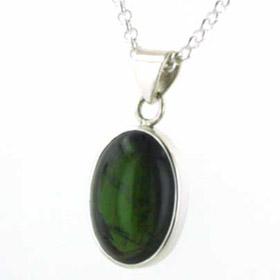 26 Carat Green Tourmaline Pendant Marni in Sterling Silver