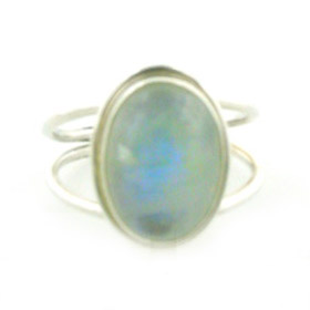 Rainbow Moonstone Ring Bazille