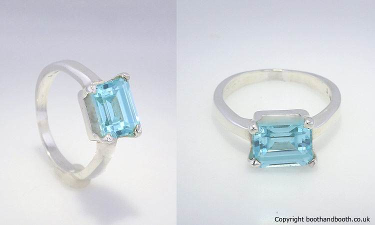 Blue Topaz Ring Turner