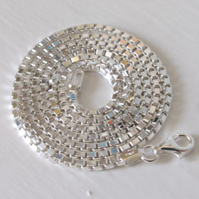 Sterling Silver Box Chain- 2mm