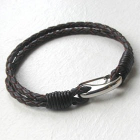Brown Leather Bracelet Bach