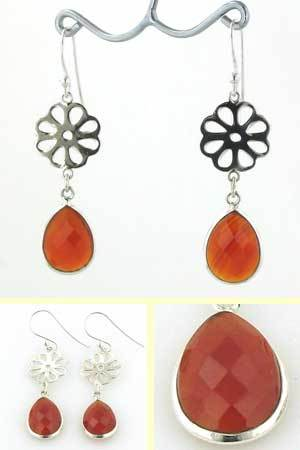 Red Onyx Earrings Evie