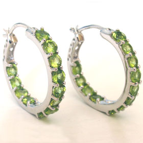Peridot Hoop Earrings Madeleine