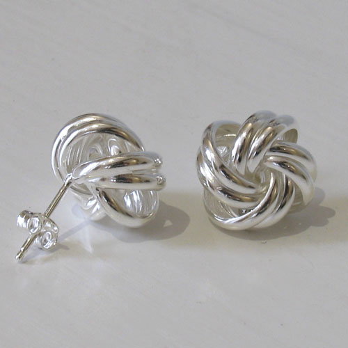 Sterling Silver Knot Studs Dee