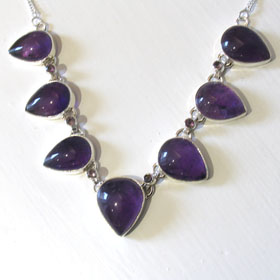 Amethyst Necklace Clarice