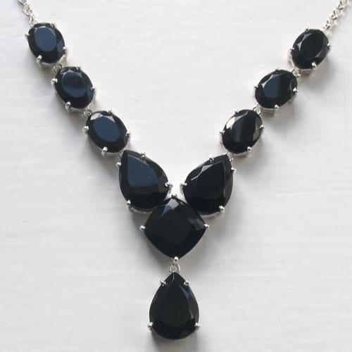 6dba6736c3290 Black Onyx Necklace Lettie